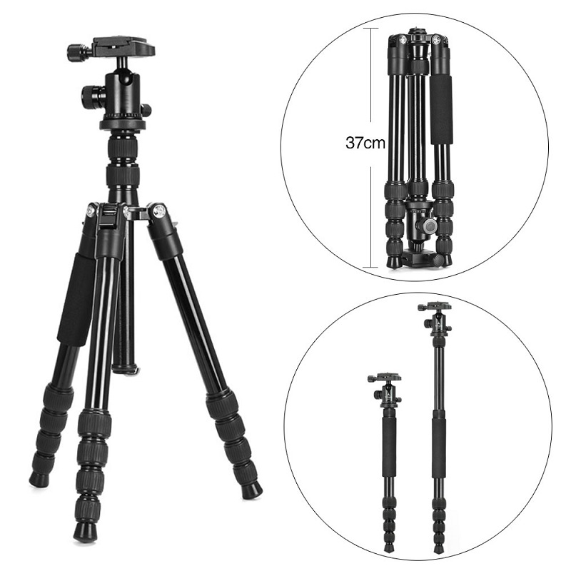 Mcoplus MT-25L Professional Photography Portable Tripod Monopod + N-1 Ball head for Canon Nikon Sony DSLR Cameras & Camcorder new upgrade q999s professional photography portable aluminum ball head tripod to monopod for canon nikon sony dslr camera