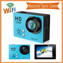 G2 WiFi Действий Камеры 12MP FHD1080P 30 М Водонепроницаемый 2 «экран Камеры Автомобиля 720 P 60fps Мини Спорт DV Видеокамер 170D/140D Широкий Угол