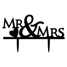 "Wedding Cake Decorations ""Mr&Mrs"""
