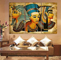 3pcs/set New Arrival Pharaoh Of Egypt Unframed Home Decoration Paintings Modern Abstract Wall Painting wall art picture