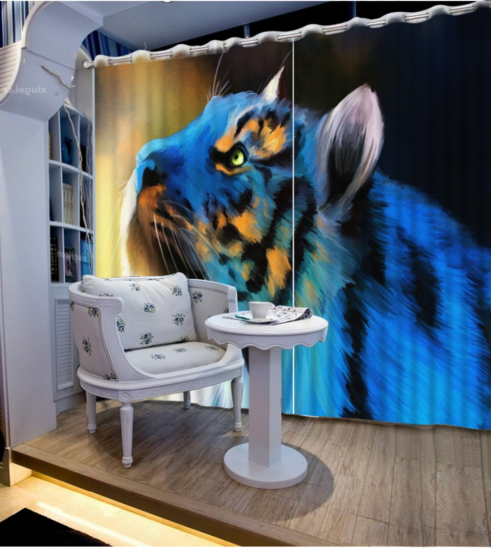 Home Decor Living Room Natural Art Customized 3D curtains window curtains for living room Bedding room 3D Curtains in Curtains from Home Garden