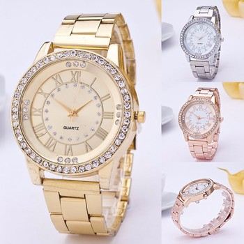 Luxury Classic Vintage Gold Ladies Watch top brand Fashion Female Crystal Casual Watch Analog Stainless Steel New Quartz watch дамски часовници розово злато
