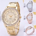 Luxury Classic Vintage Gold Ladies Watch top brand Fashion Female Crystal Casual Watch Analog Stainless Steel New Quartz watch