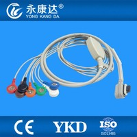 GE SEER Licht 2008594-004 7 lood holter ecg-kabel, snap, AHA