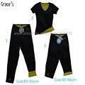3 шт. в одном устанавливает брюки + футболки супер стрейч женщины неопрена body shaper похудения брюки тонкий потливость костюмы для тренировок