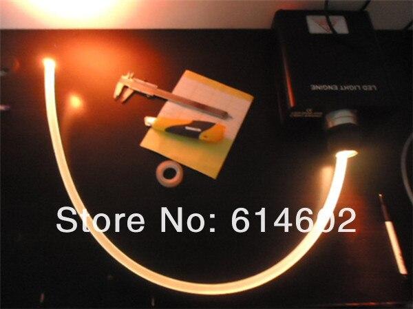 100 м длина высокое качество 2,0 мм боковое светящееся оптическое волокно для украшения автомобиля атмосферный оптоволоконный свет кабель