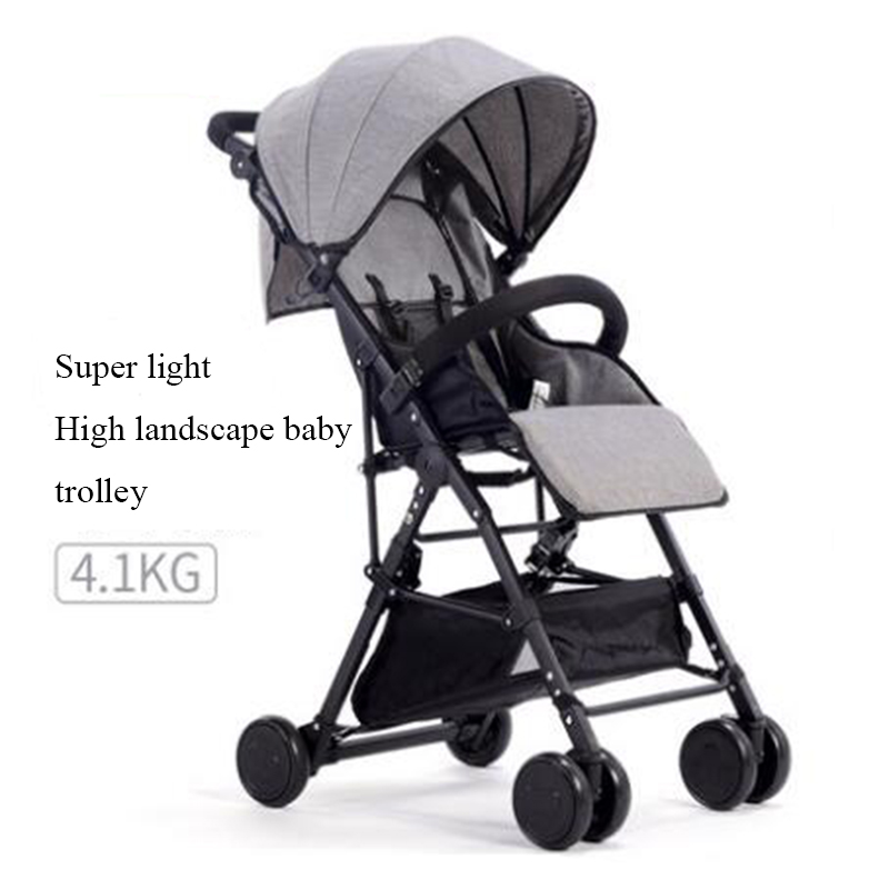 Baby stroller ultra-light portable hadnd car umbrella folding baby bb baby stroller baby stroller ultra light portable folding cart shock absorbers car umbrella bb baby child small baby car