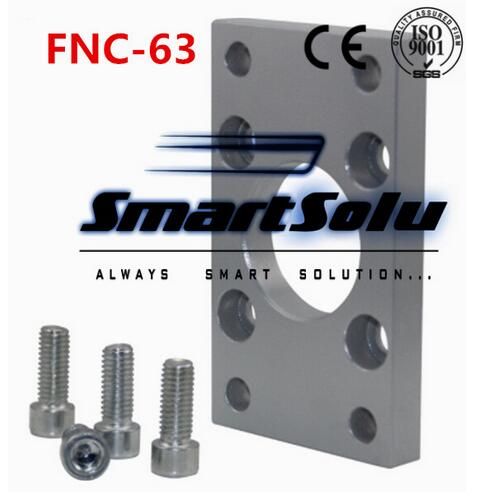 все цены на Free Shipping 5pcs/lots ISO6431 cylinder accessories FNC - 63, flange installation pieces, as FNC - 63, DNC, SE, SI онлайн