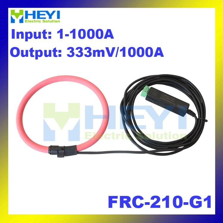 Red ac rogowski sensor Input : 1~1000A Output : 333mV FRC-210-G1 transformer coil fexible rogowski coil frc 210 input 1 1000a output 38mv with bnc connector inner diameter 60mm flexible rogowski coil
