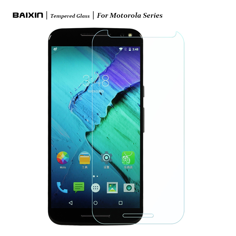 Baixin New 9H Tempered Glass for Motorola MOTO G G2 G3 E X X2 X+1 Screen Protector Protective Film Cover Case for Moto Phone