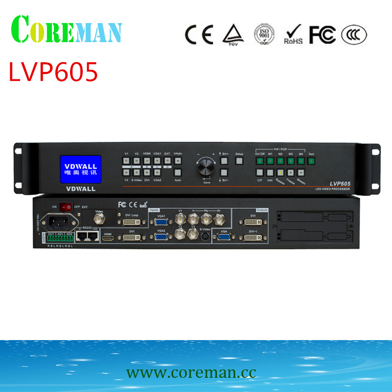 video Processor  Lvp605 rental use +1pcs free LINSN 802D sending card dot matrix led module outdoot panel led-in LED Displays from Electronic Components & Supplies    1