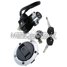 Motorcycle Ignition Switch Lock + Fuel Gas Tank Cap Cover + Seat Lock + Keys Set For SUZUKI SV 1000 S 2003-08 GSXR600/750 04-05