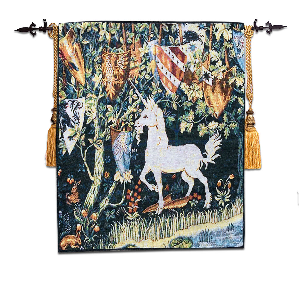 tapestry medieval unicorn european tapestries painting classic cloth american household europe wall hanging gt aliexpress 69cm aubusson cotton shipping