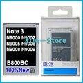 Новый Оригинальный аккумулятор для Samsung galaxy note 3 батарея n9009 n9002 n9008 Батареи 3200 мАч Батареи С Розничной Упаковке