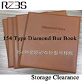 One diamond bur book 154 pcs per catalog dental material dental lab free shipping equipment FG burs