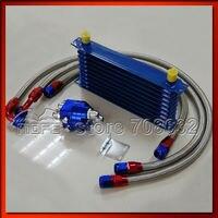 10an двигатели для автомобиля передачи 9 ряд алюминий радиатор с mala mala фильтр Presley комплект + Plate нержавеющая сталь масла WP трубы для автомобиля