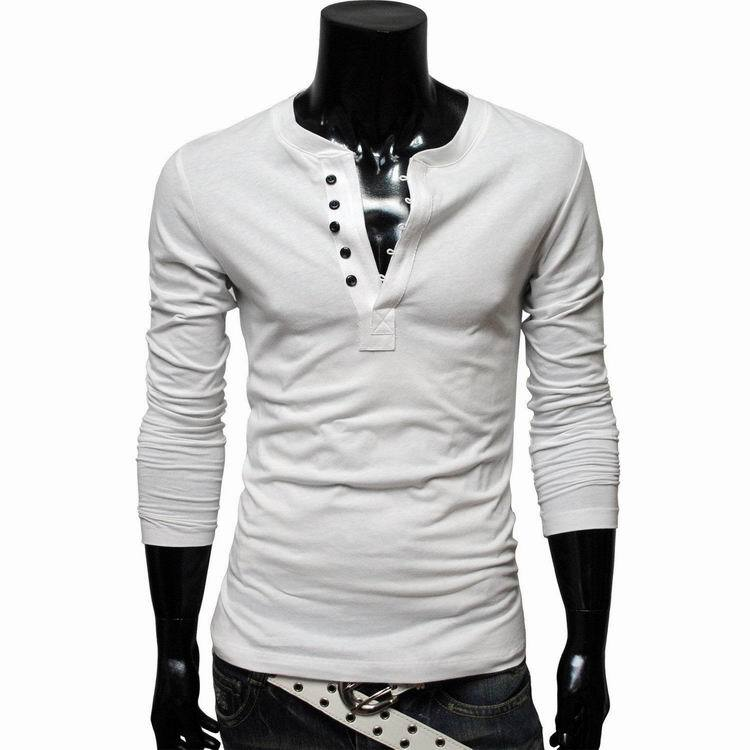 9201bddd583 Korean Style Men 2015 Designer Henley Neck Brand T Shirts Shirts Long  Sleeve Tshirt Men Clothes Fashion T Shirt Tees for Mens-in T-Shirts from  Men s ...