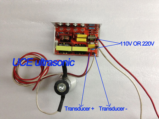 100 Вт/28 кГц ультразвуковой генератор PCB 110 В CE и FCC сертификации с двумя 28 датчик ультразвукового очистителя
