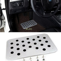 Auto Aluminum Floor Carpet Mats Pedal Pad Footrest Plate For SUZUKI VITARA ALTO JIMNY SWIFT SX4 S.CROSS Liana ENWAYS With logo
