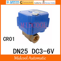 CWX 25S Brass Motorized Ball Valve 1 2 way DN25 minitype water control valve DC3 6V electrical ball valve wires CR 01