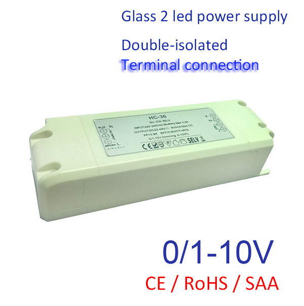 Double Isolated Current Constant <font><b>LED</b></font> 0-10V Light/<font><b>LED</b></font> lamp Adapter 36 <font><b>Watt</b></font> Max SELV CE/SAA <font><b>Driver</b></font> 700mA 900mA 1100mA image
