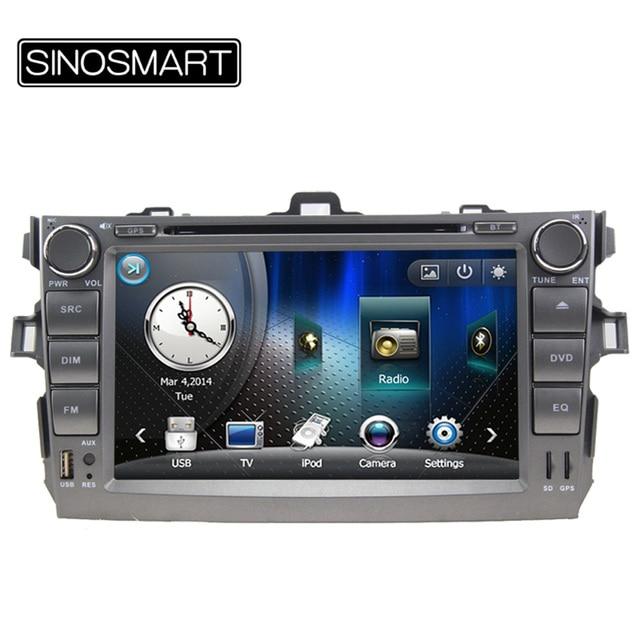 SINOSMART 800 МГц ПРОЦЕССОРА 8 ''На Складе WIN CE Автомобиля DVD GPS Навигация для Toyota Corolla 2006-2011 Corolla Altis