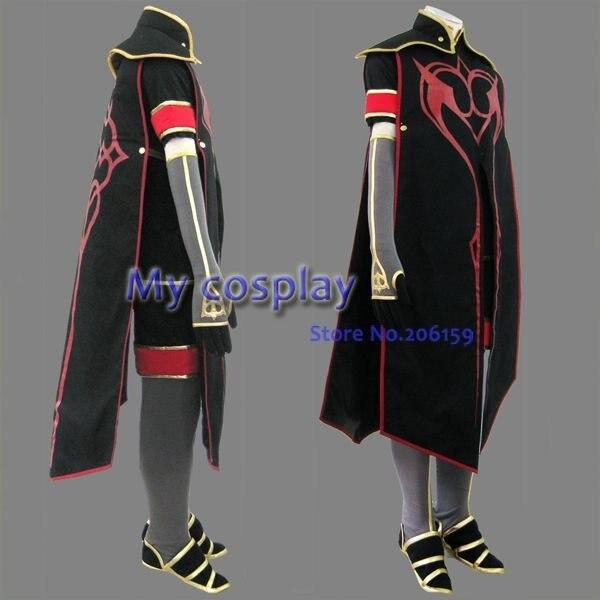 Tales of Abyss Asch мужской косплей костюм мужской костюм классические костюмы для Хэллоуина мужская одежда