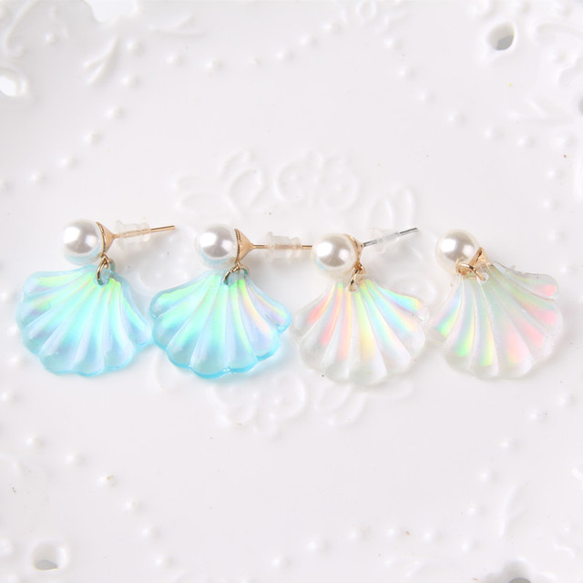 New Fashion Japan Jewelry Accessories Women's Earrings Pearl Shell Drop Earrings 2A1007