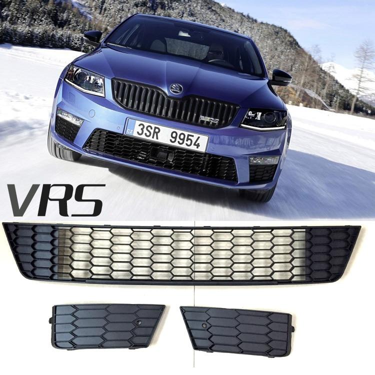 VRS Honeycomb Design RS Car Front Bumper Lower Air Guide Fog Lamp Frame Cover