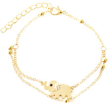 Good Price gold plant elephants chain anklet bracelet with good price