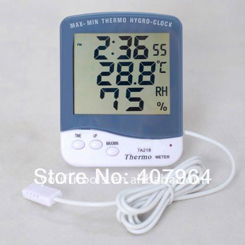 YARUIFANSEN Humidity Meter Electronic Hygrometer Digital Hydrometer and Thermometer with Temperature Sensor Wire TA218C