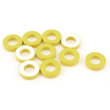 лучшая цена 10 Pcs 18Mm X 9Mm X 5Mm Yellow White Iron Core Power Inductor Ferrite Ring