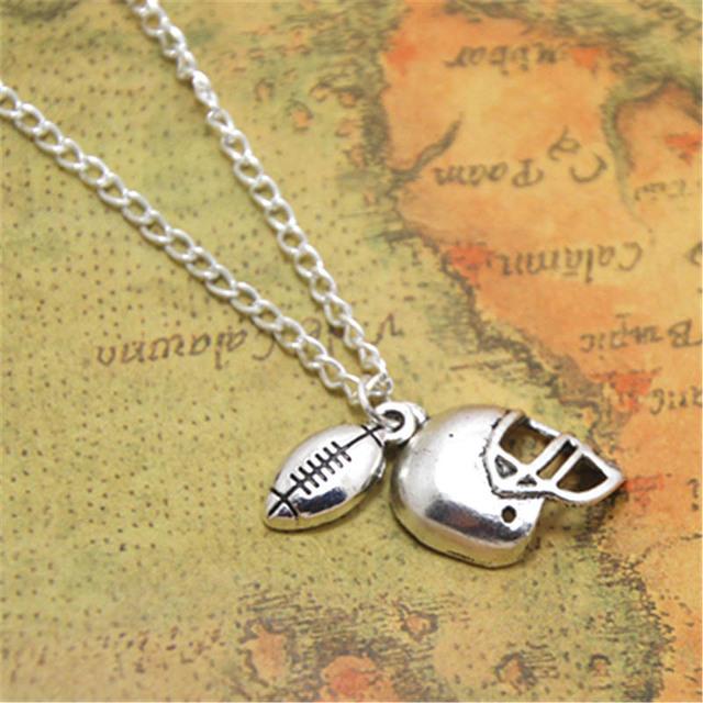 12 шт./партия, футбольное ожерелье, подвеска для футбола, ювелирные изделия, футбольный подарок для мамы, серебряный тон