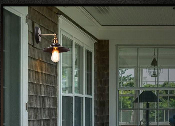ZX industrielle rétro fer applique E27 vis ampoule rotation Joint diamètre 22 cm lumières chambre couloir Lamp110V/220 V livraison gratuite - 3