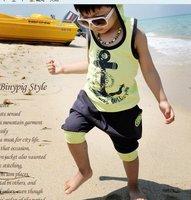 лето дети мальчиков 2011 темно-якорь cores мальчиков и девочек с caption гель + щетка костюм в харлан