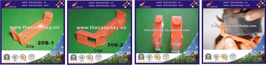 C20-C) оранжевый транспортный чехол картридж зажим для Canon bci-6 CLI8 CLI 8 CLI-8 с силиконовая прокладка цветной картридж