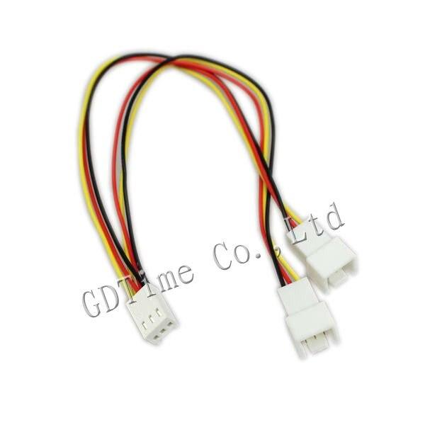 100 STKS Computer Ventilator Vermogen 3Pin Om 2pin 3pin Y kabel ...