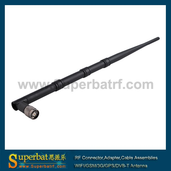Superbat WiFi антенна 2,4 ГГц 10dBi Omni RP-TNC мужской резиновый Ducky антенна усилитель черный для беспроводного маршрутизатора WRT54 WLAN PCI карта