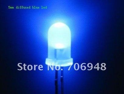 1000 шт. 5 мм синий матовый светодио дный 5 К MCD