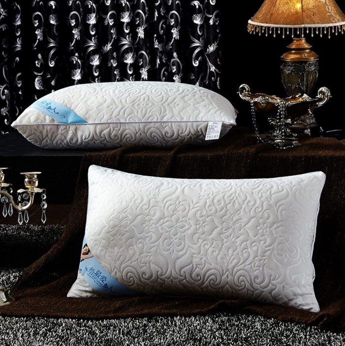 new fivestar hotel pure cotton feather pillows soft breathable embossed pillow