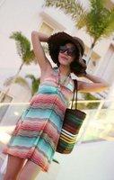 Boom стиль лето женщин печать бикини платье пара костюм 3шт / комплект пара м / L / хl