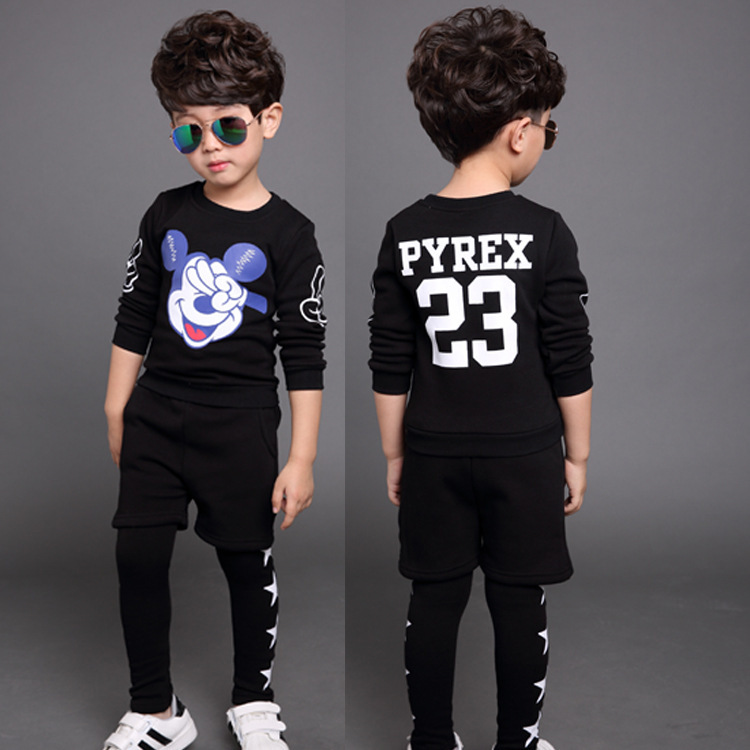 2016 Brand Baby Uni Clothes 2pcs set Hooded Top Hip Hop