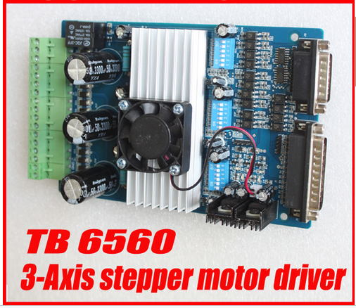 все цены на Free Shipping 3 axis TB6560 3.5A CNC engraving machine stepper motor driver board 16 segments stepper motor controller онлайн