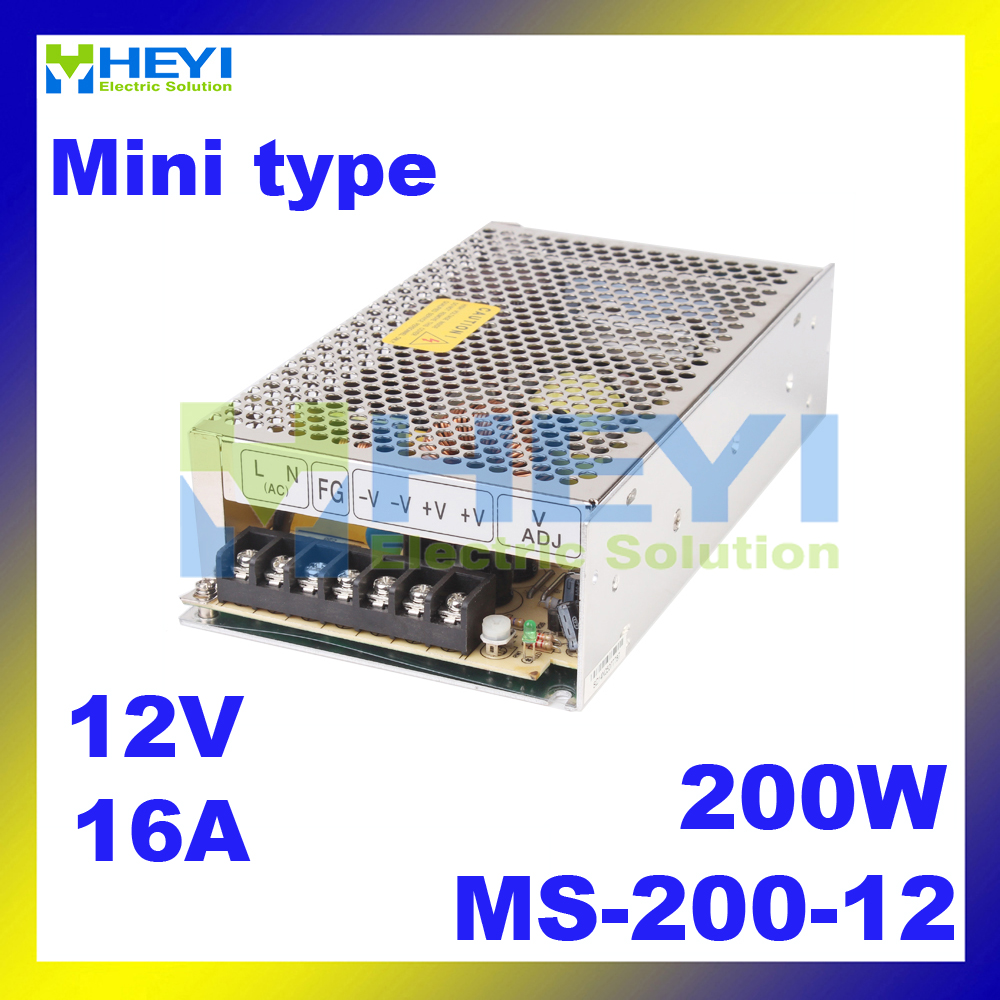 New product! 200W Mini Size AC to DC Single Output Switching Power Supply MS-200-12 200w 12v 6a with CE meanwell 12v 350w ul certificated nes series switching power supply 85 264v ac to 12v dc