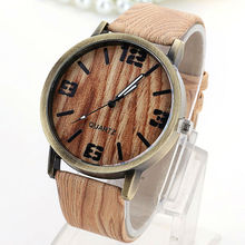 FUNIQUE Simulated Wooden Men's Quartz Watch Woman Wood Leather Strap Watches Simple Women Wristwatch Feminino Clock Fashion Hour