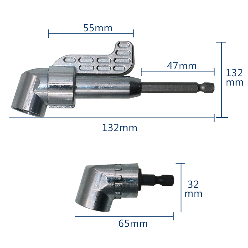 1/4 Inch Magnetic Angle Bit Driver Adapter Screwdriver 360 Degree Adjustable Thumb Flange Off-Set Power Head Power Drill Driver ootdty 1 4 inch right angle driver screwdriver angled bit holder fr power drill tool
