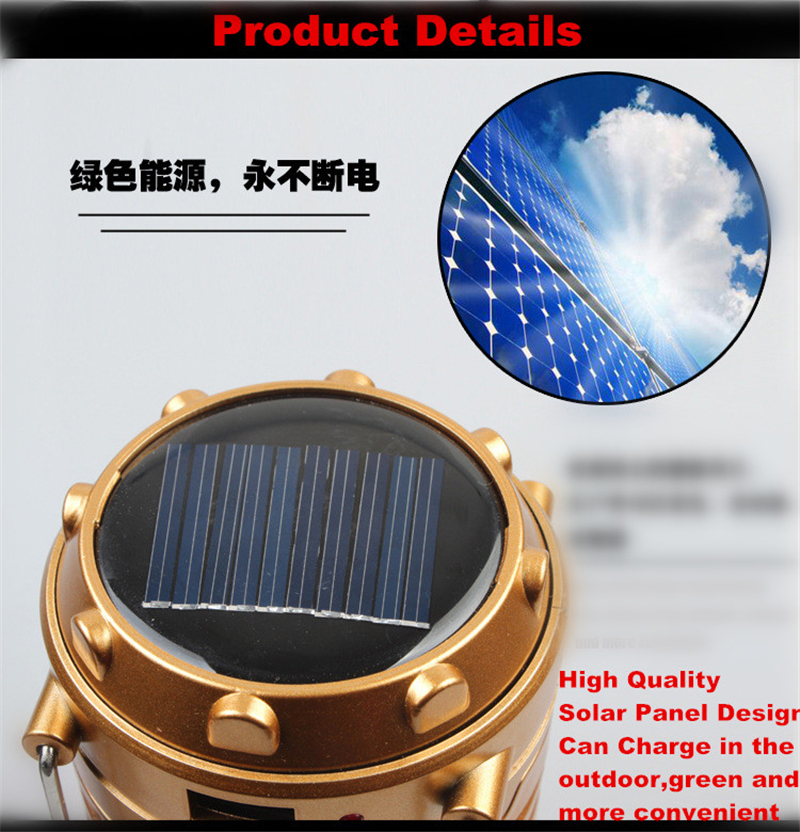 New 6 Led Disaster Prevention Artifact 5W Multifunctional Camping Lights Rechargeable Solar Power Lantern XL-G85Z