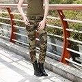 Camo verão Suor Das Mulheres Sólidos Calças Outono Calças Slim Fit Mulheres Esticar Calça Casual Senhoras Calças Lápis Camuflagem Gk-969