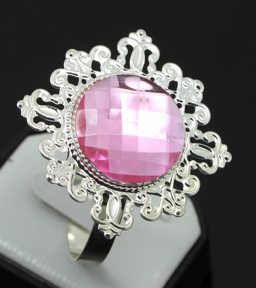 Free Shipping 30pcs/lot Pink Diamond Napkin Rings Serviette Holder ...