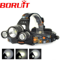 5000 Lumens JR-3001 3x XML XM-L T6 LED Headlamp linterna frontal Headlight Head Lamp Light for Bicycle Bike Outdoor Light